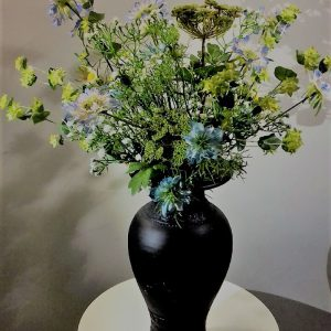 Bloemstuk Blauw-groen 75 cm