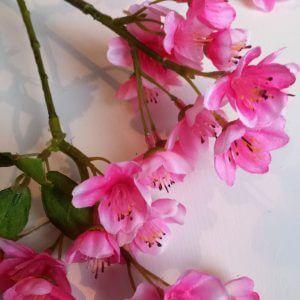 Bloesemspray 66 cm donker roze