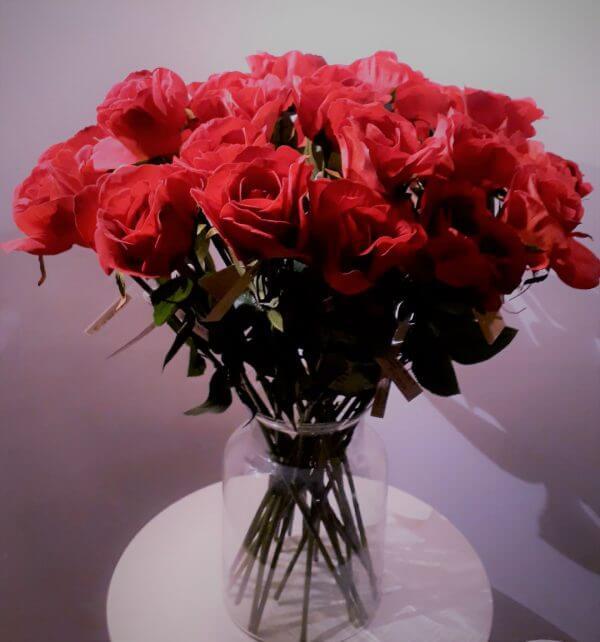 Boeket rode rozen 61 cm