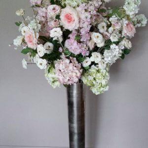 Groot zijden bloemstuk