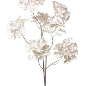 Hortensia Hydrangea creme met glitter
