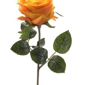 Roos geel oranje 45cm