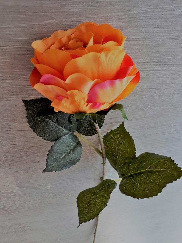 Roos oranje 42 cm