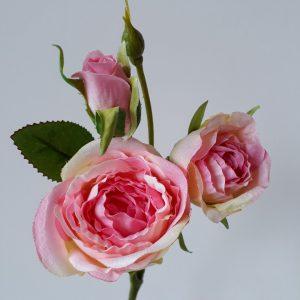 Roos spray 43 cm roze