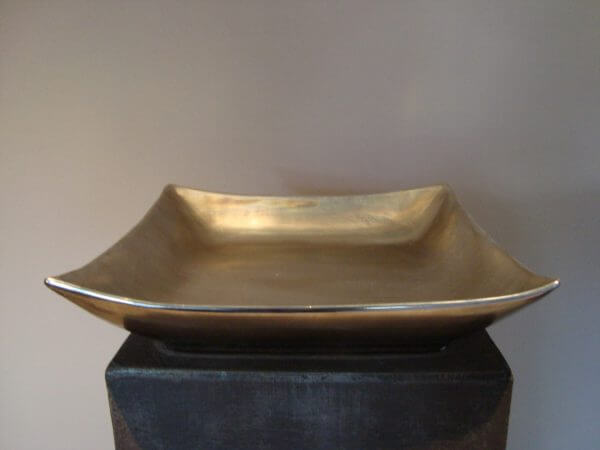 Vierkante Schaal Old Silver