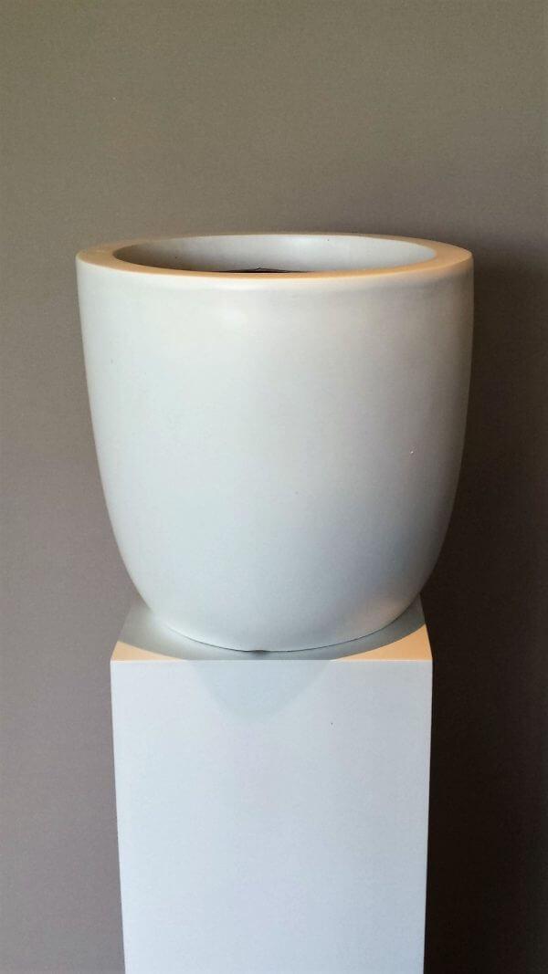 Witte kunststof pot voor binnen / buiten
