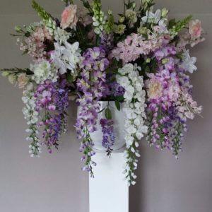 Zijden bloemstuk bruiloft