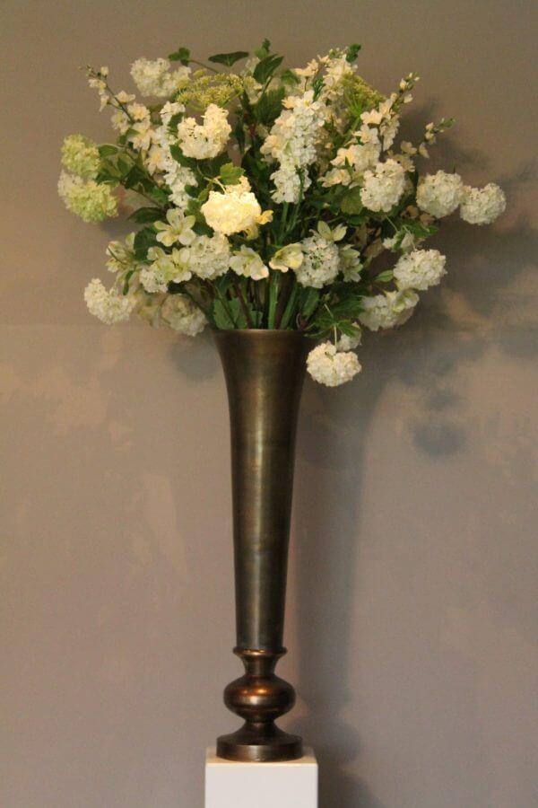 Zijden bloemstuk viburnum
